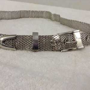 "Chain length 37"" silver belt with silver buckle"